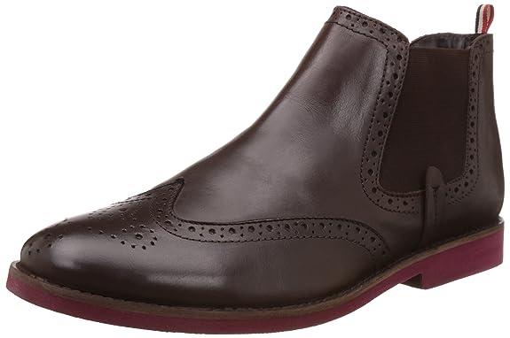 BATA Men's Affleck Leather Boots Men's Boots at amazon