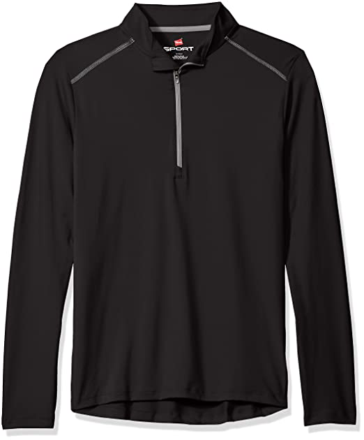 info for 61fe7 4948d Hanes Sport Men's Performance Quarter-Zip Pullover
