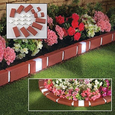 Superbe Brick Look Garden Border With Solar Lights