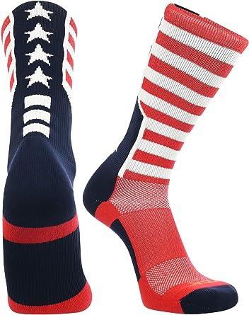 TCK deportes bandera de Estados Unidos estrellas y rayas calcetines: Amazon.es: Belleza