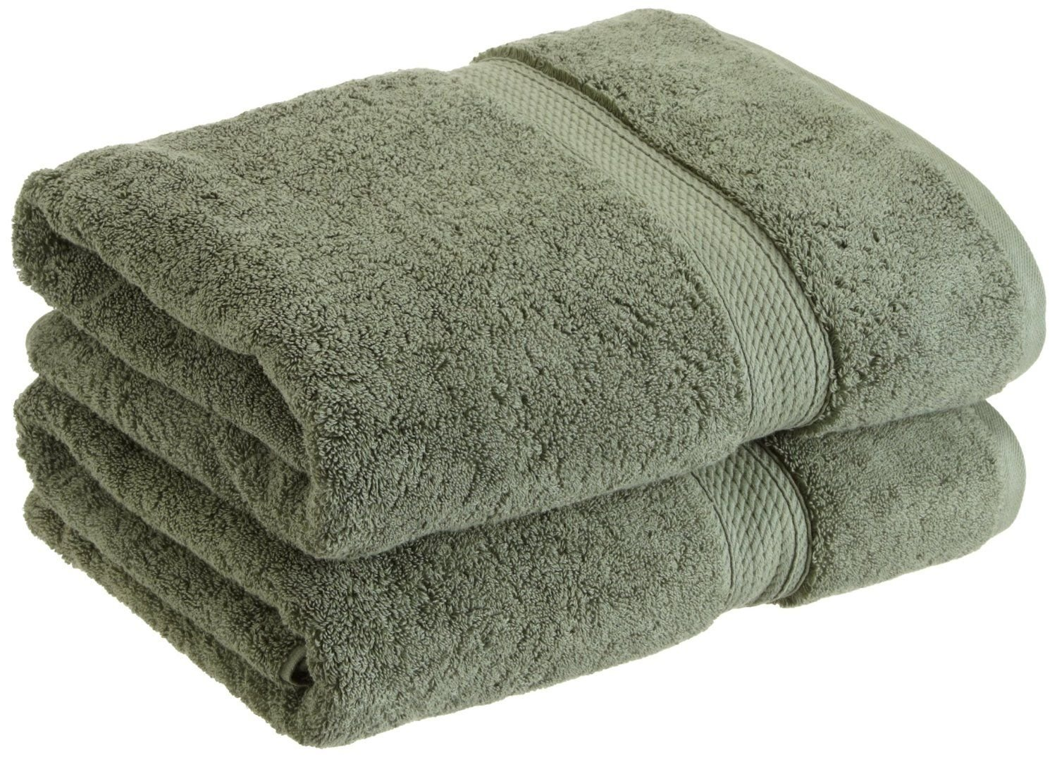 Superior 900 GSM Luxury Bathroom Towels, Made of 100% Premium Long-Staple Combed Cotton, Set of 2 Hotel & Spa Quality Bath Towels - Forest Green, 30'' x 55'' each