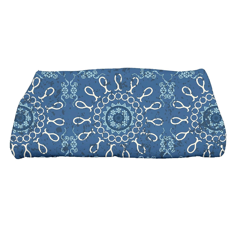 Kess InHouse Oriana Cordero Coral White Red Round Beach Towel Blanket