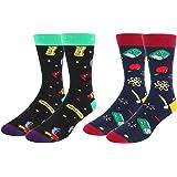 Novelty Crazy Food Dress Socks Funny Geek Taco Pizza Crew Socks for Men