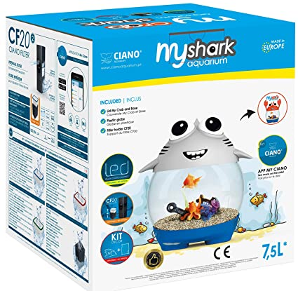 Ciano Acuario My Acuario Shark para acuariofilia Gris