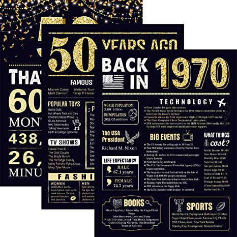 14 Anniversario Di Matrimonio.50 Years Ago 50 Compleanno Anniversario Di Matrimonio Poster 3