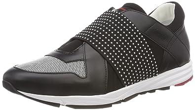 HUGO Damen Uptown Asya-ST Slip on Sneaker, Schwarz (Black 001), 39 EU