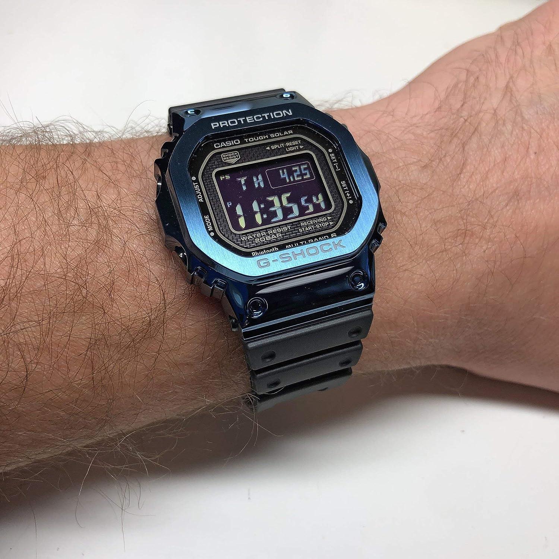 Casio G-Shock GMWB5000G-2 Reloj digital de metal azul para hombre ...