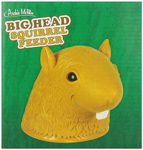 Amazoncom Accoutrements Big Head Squirrel Feeder Toys Games