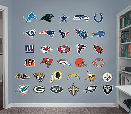 Amazon.com: FATHEAD NFL LIGHT Logo NFL - Colección de ...