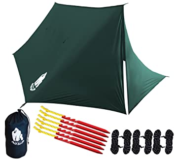 CHILL GORILLA FORTRESS HAMMOCK RAIN FLY WITH 4 DOORS. Tent Tarp Waterproof C&ing Shelter.  sc 1 st  Amazon.com & Amazon.com : CHILL GORILLA FORTRESS HAMMOCK RAIN FLY WITH 4 DOORS ...