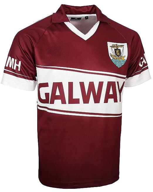 Hombre Manga Corta Galway Camiseta de Fútbol Pico: Amazon.es ...
