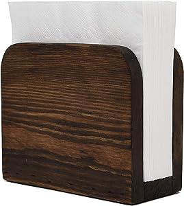 Rustic Napkin Holder - Wooden Napkin Holders For Tables - Kitchen Napkin Dispenser - Kitchen Accessories - Restaurant Storage Organizer - Bar Accessories And Decor, Natural Pine