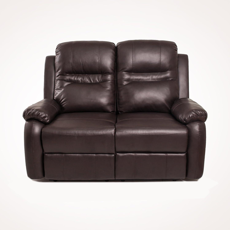 WS DESIGN Sofá 2 plazas reclinable ALFIERE sintética Sofa ...