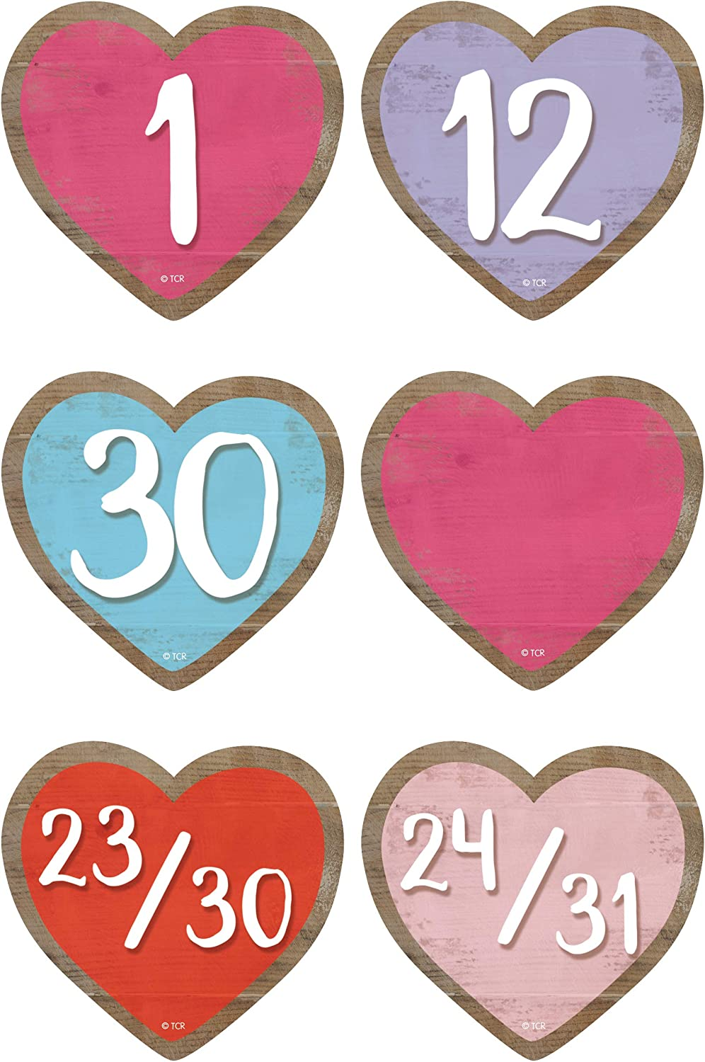 Teacher Created Resources Home Sweet Classroom Hearts Calendar Days, Model Number: TCR8550