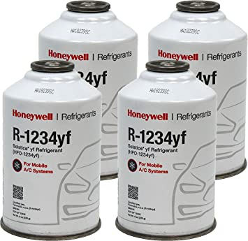Honeywell R1234yf Ac Refrigerant For Mobile Systems Solstice Hfo 1234yf 4 8oz Cans Amazon Ca Automotive