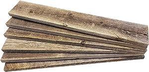 Barnwood Decor of OKC   Barnwood Craft Wood for DIY Projects [100% Authentic Reclaimed Weathered Wood] Rustic Weathered Reclaimed Wood Planks for DIY Crafts, Projects and Decor (6 Planks - 24 Inches)