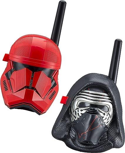 eKids Star Wars Kylo Ren & First Order Trooper Kids Walkie Talkies for Kids Static Free Extended Range Kid Friendly Easy to Use 2 Way Radio Toy ...