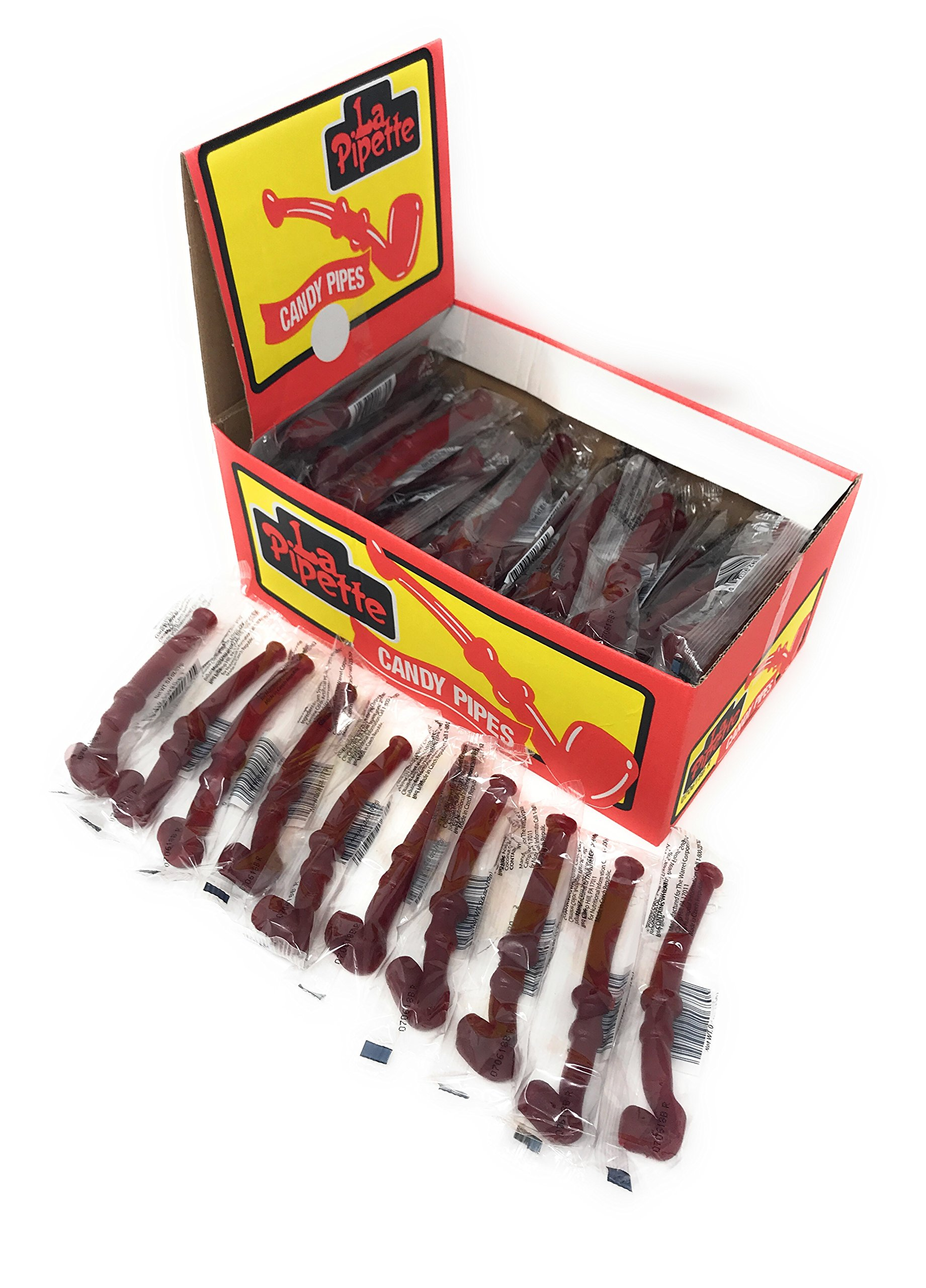 La Pipette RED Licorice Pipes are BACK! 60ct Classic Fresh Candy  sc 1 st  Amazon.com & Amazon.com : Wockenfuss Candies Black Licorice Pipes - 5 Dozen ...