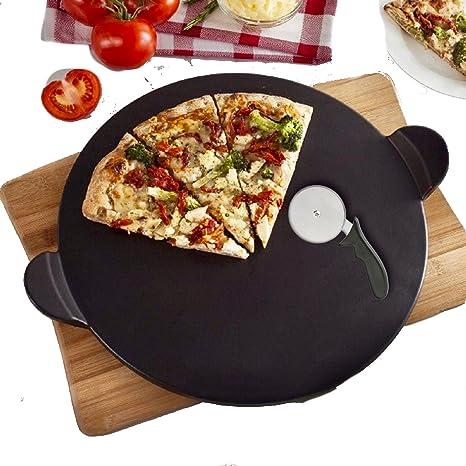 Pizzastein für Pizza Backstein Set Ofen Pizzaschaufel Cordierit Pizzaschneider