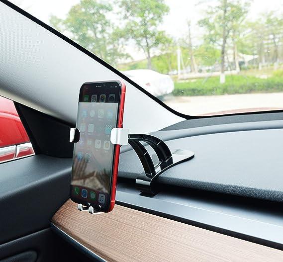 Carbon Car Adjustable Mibble Phone Holder Stand For Tesla Model 3 2018 2019 2020