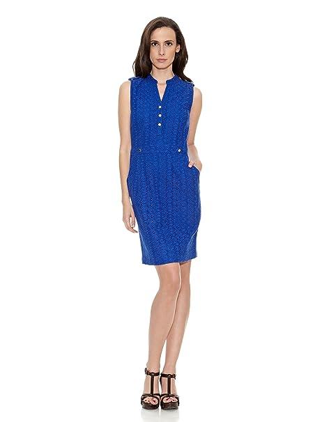 Cortefiel Vestido Sangalo Azul ES 38