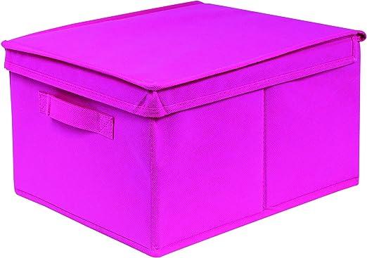 Equipstore 33468-Caja de almacenaje Plegable, Polipropileno, 20 x 28 x 35 cm.: Amazon.es: Hogar