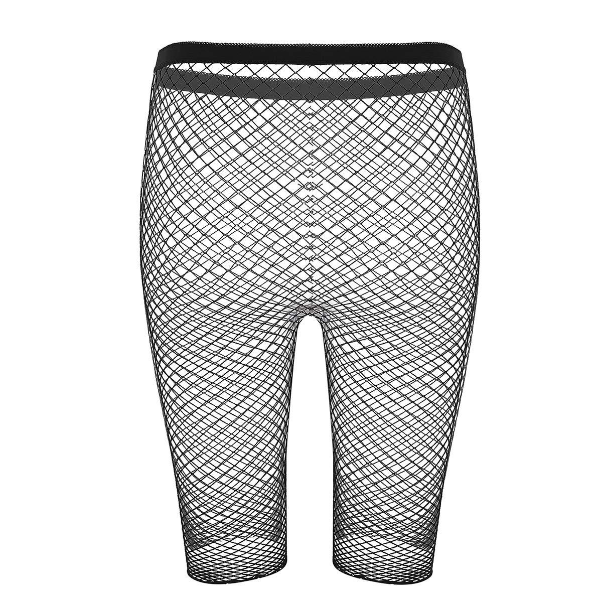 Damen Kunstleder Slip Strümpfen Unterwäsche Reißverschluss offenem Panty Dessous