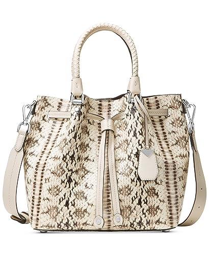 5ed82cb8fbe72 Michael Kors Blakely Snake Embossed Leather Medium Bucket Bag Purse   Handbags  Amazon.com