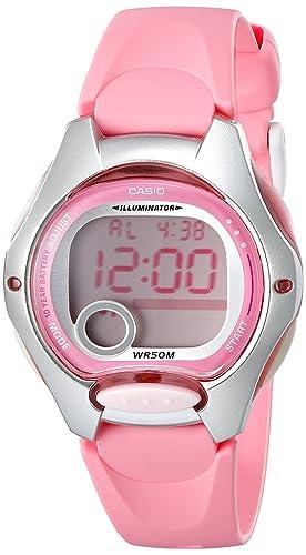 Amazon.com: Casio LW200 – 4BV Rosa Resina diGital Reloj de ...