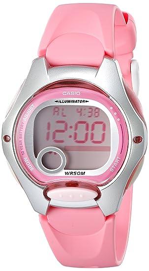 Casio LW200-4BV - Reloj para mujeres, correa de resina color rosa: Casio: Amazon.es: Relojes