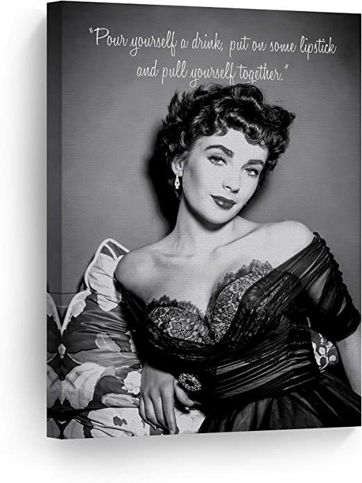 ELIZABETH TAYLOR BEAUTIFUL B/&W 36X24 POSTER PRINT