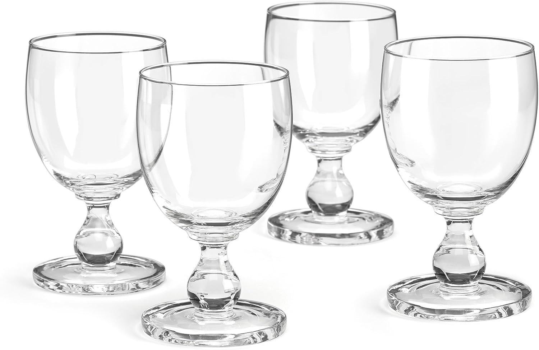 Dansk Hanna 4pc Goblet Set, 3.52 LB, Clear