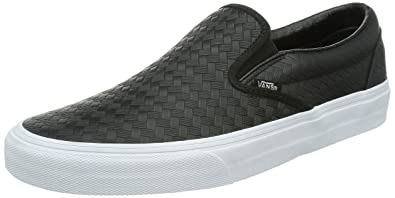 3b39821a7540e5 Vans Men s Embossed Weave Classic Slip-On Shoes Black Size  6 ...