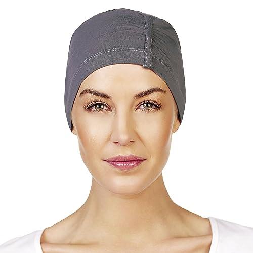 Gorro de noche de bambú transpirable y sin costuras para mujeres en quimioterapia