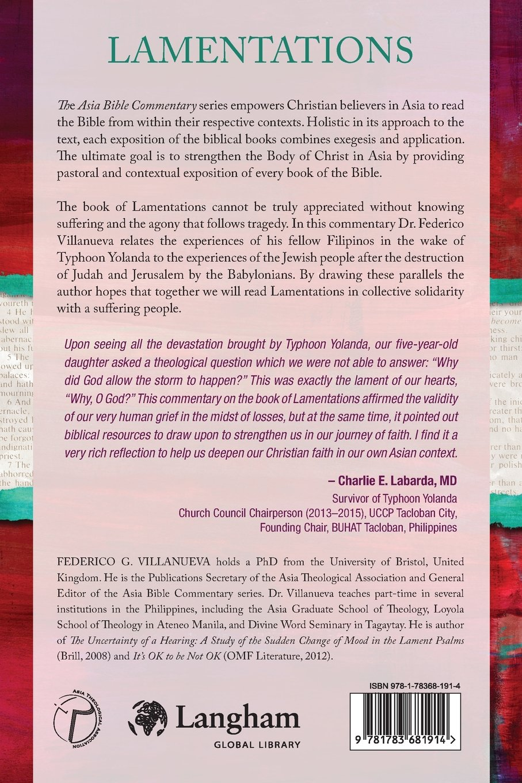Lamentations asia bible commentary federico villanueva 9781783681914 amazon com books