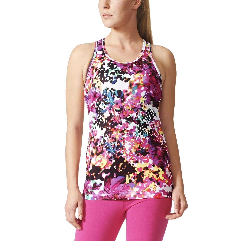 Adidas All Over Print Tank Top - Womens - Shock Pink/Multicolor - Medium