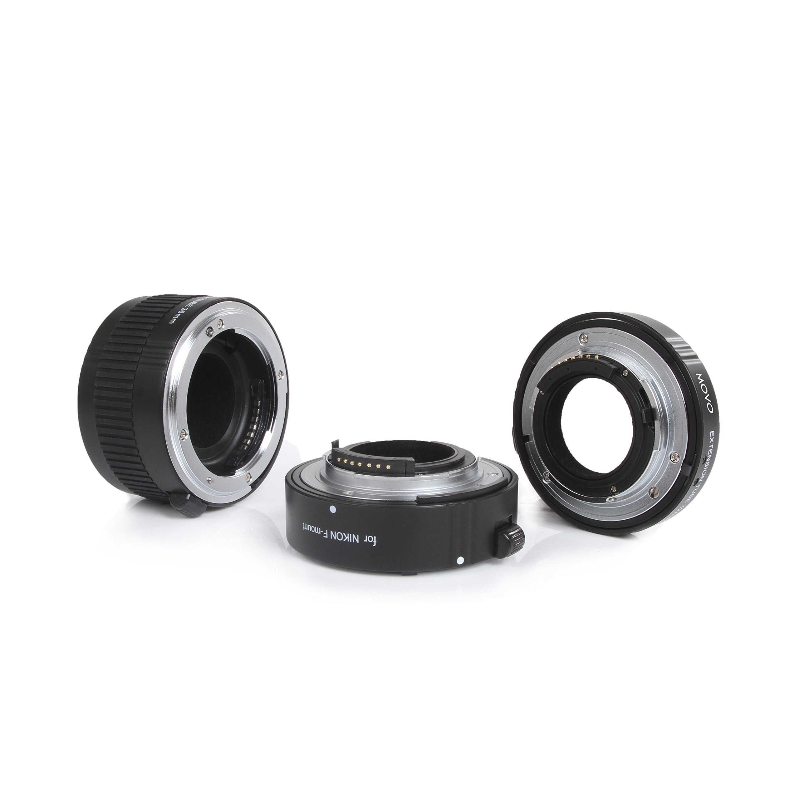 Movo Photo AF Macro Extension Tube Set for Nikon DSLR Camera with 12mm, 20mm & 36mm Tubes (Metal Mount) by Movo (Image #2)
