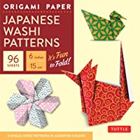 Origami paper japanese washi patterns small 6 96 sheets