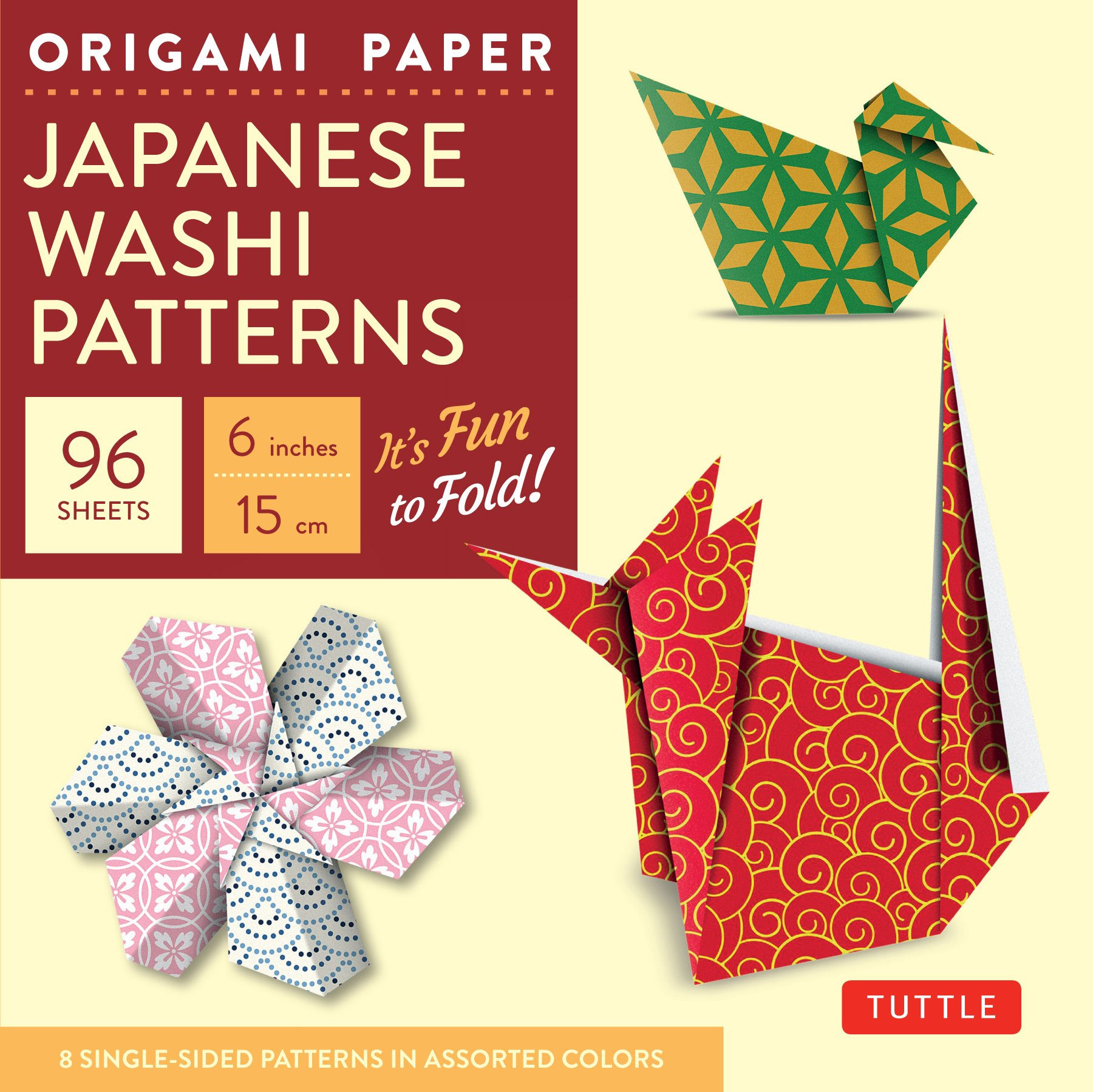 Amazon Origami Paper Japanese Washi Patterns 6 96 Sheets