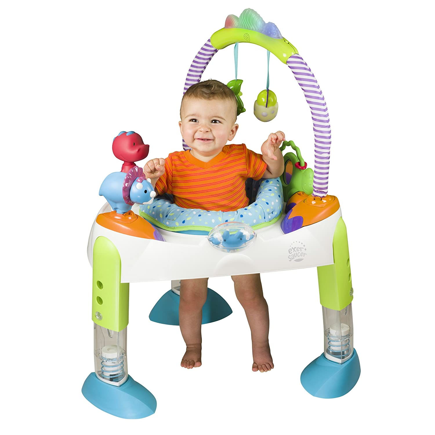 Amazon Evenflo Exersaucer Fast Fold Go D Is For Dino Baby