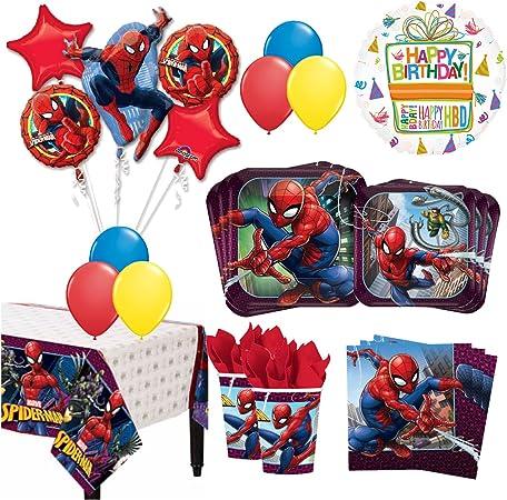 Mayflower The Ultimate 8 Guest 53pc Spider Man Suministros De Fiesta De Cumpleaños Y Globo Kit De Decoración Health Personal Care