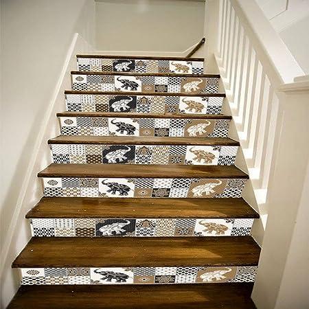 Qtzs 3d Style Marocain Carrelage Escalier Decoration De La Maison Diy Renovation Stickers Muraux 6 Pcs Amazon Fr Cuisine Maison