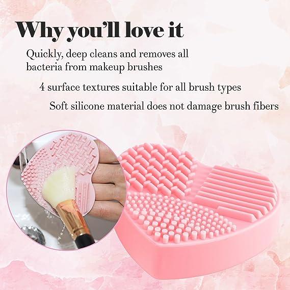 BROCHAS MAQUILLAJE PROFESIONAL - Quitan residuos de polvos cosméticos. Sin químicos y sin agua.: Amazon.es: Belleza
