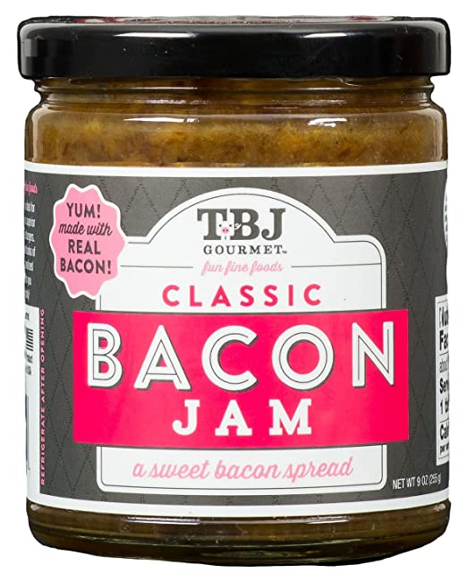 TBJ Gourmet Classic Bacon Jam - Original Recipe Bacon Spread - Uses Real Bacon, No Preservatives - Authentic Bacon Jams - 9 Ounces