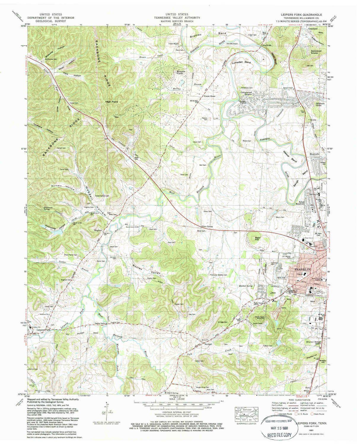 Amazoncom Leipers Fork TN Topo Map Scale X - Tva hunting maps