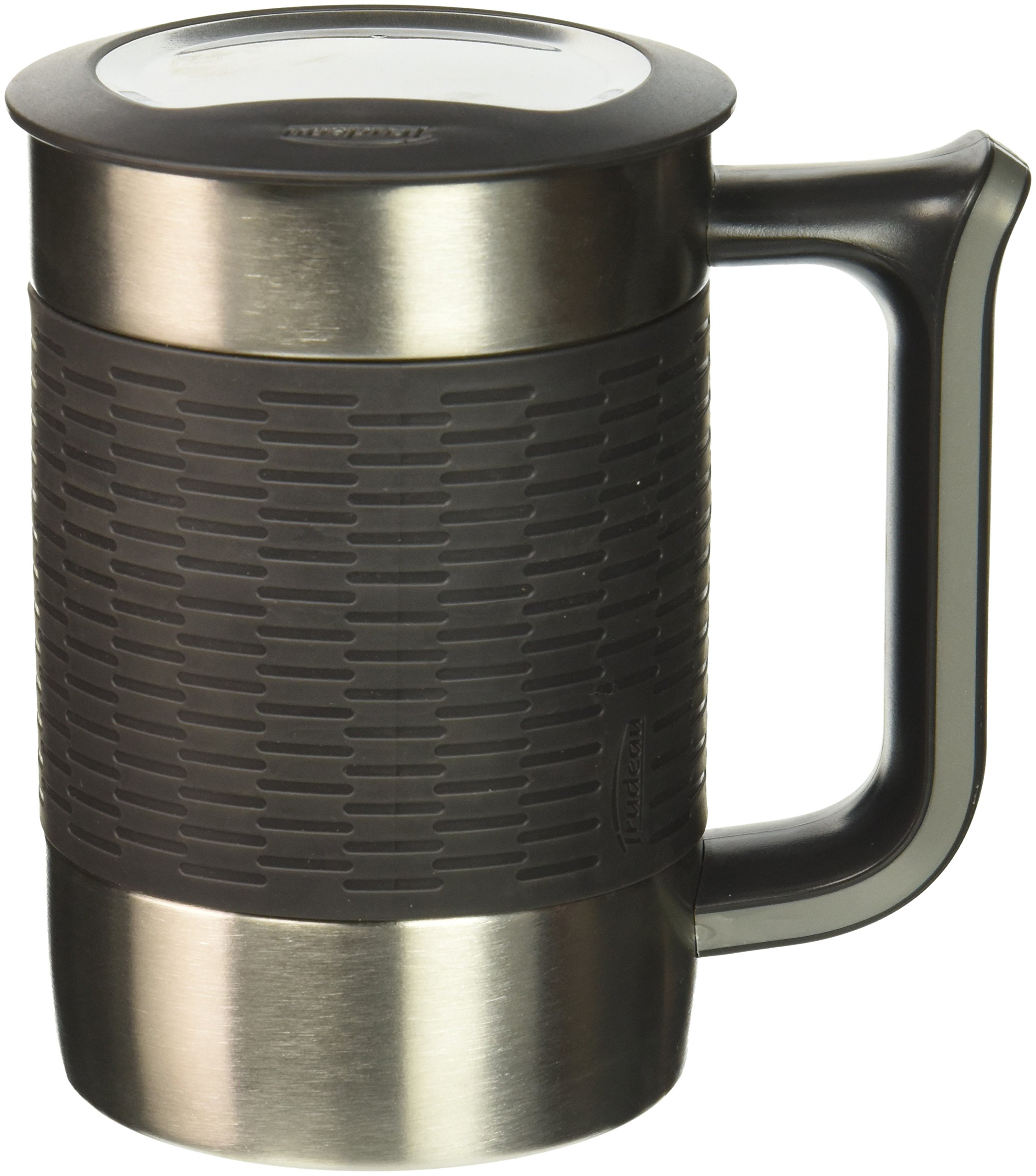 Trudeau Boardroom II Desk Mug Charcoal, 16 oz, Charcoal/Grey