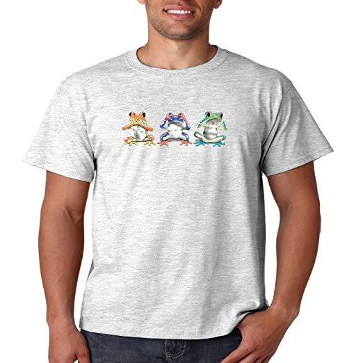a2cf29c66e91d Wise Frogs T Shirt Speak See Hear No Evil Mens Tee
