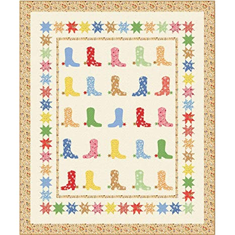 Amazon Com Windham Storybook Ranch Cowboy Boots Quilt Kit