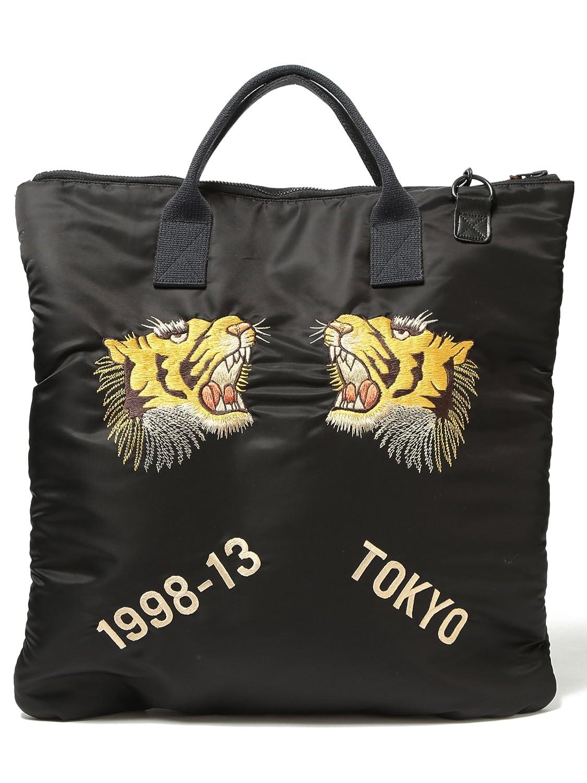 Amazon   (ビームスボーイ)BEAMS BOY TAILOR TOYO×BEAMS BOY / スカ刺繍 2WAY ヘルメットバッグ 13610384 19 ONESIZE ブラック   トートバッグ 通販