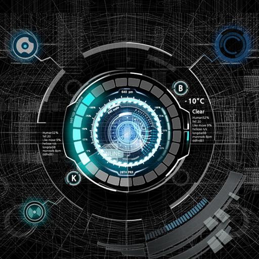 Black Mechanic Atom Theme